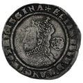 1574 Elizabeth I Sixpence mm Eglantine