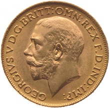 King George V Gold Sovereign in Gift Box