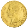 1807 20 French Francs - Napoleon (I) Bare Head (Temporary) - A