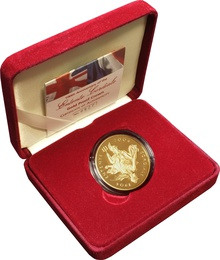 2004 - Gold £5 Proof Crown, Entente Cordiale Boxed