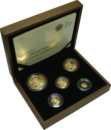 2009 Gold Proof Sovereign Five Coin Set Boxed