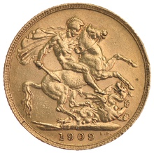 1909 Gold Sovereign - King Edward VII - Canada