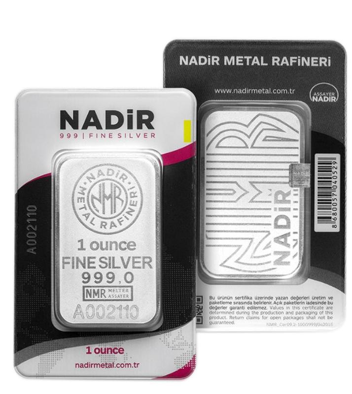 Nadir 1oz Silver Minted Bar