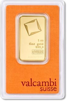 Valcambi 1oz Gold Bar