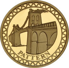 £1 One Pound Gold Proof Coin - Pattern Bridges -2003 Menai
