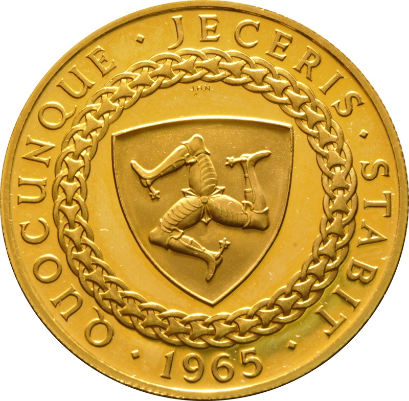 23.5ct 1965 £5 Proof Isle of Man Gold Coin Bicentenary of the Revestment Act