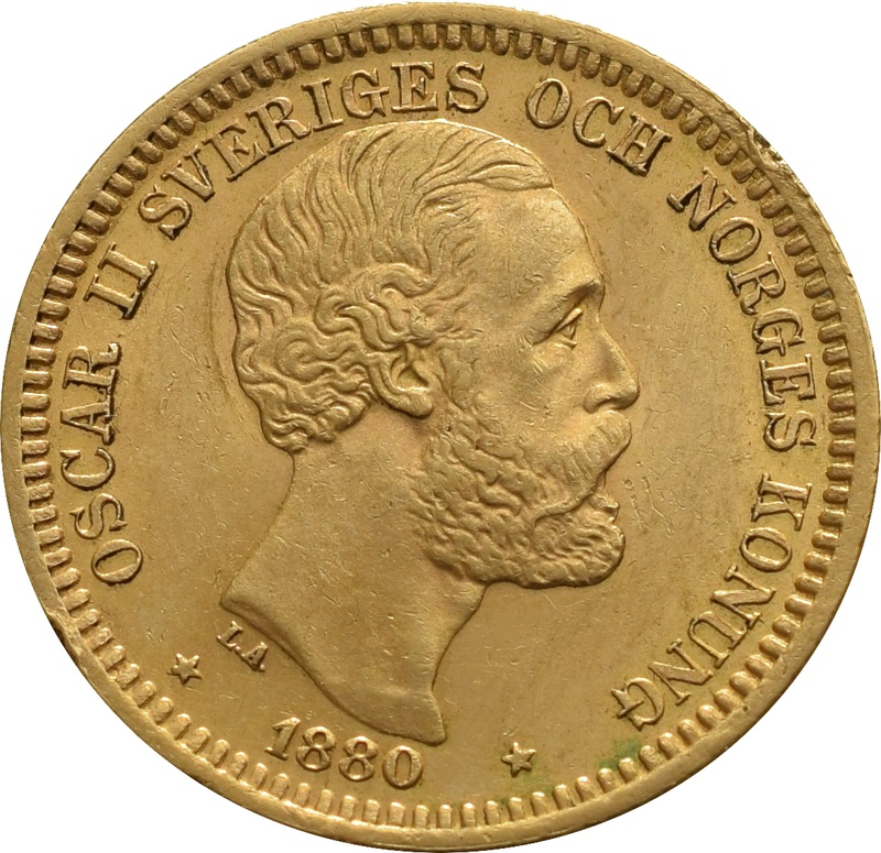20 Kronor Swedish - Oskar II 1877 - 1899
