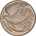 1995 £2 Two Pound Proof Gold Coin:  Peace Dove WWII