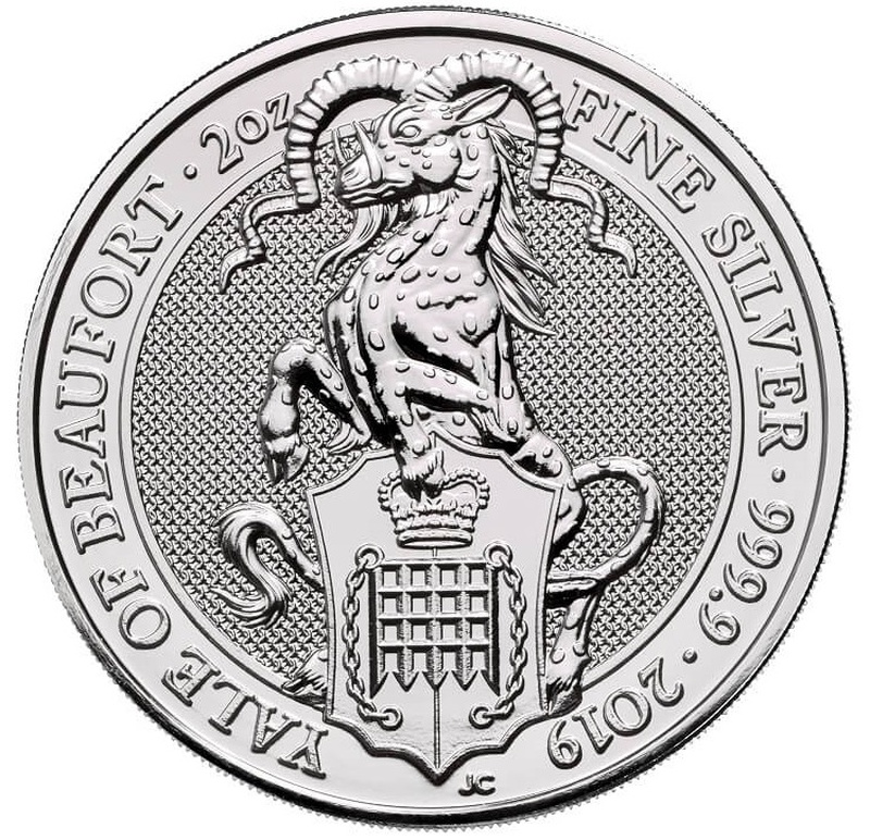 2oz Silver Coin, Yale Of Beaufort - Queen's Beast 2019