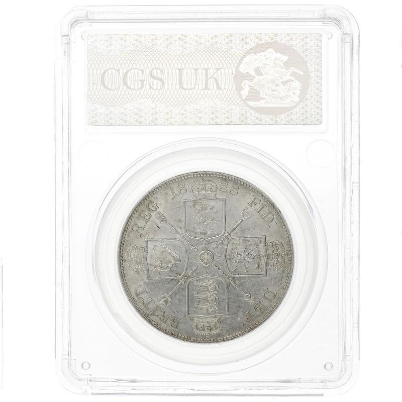 1888 Queen Victoria Silver Double Florin CGS 65