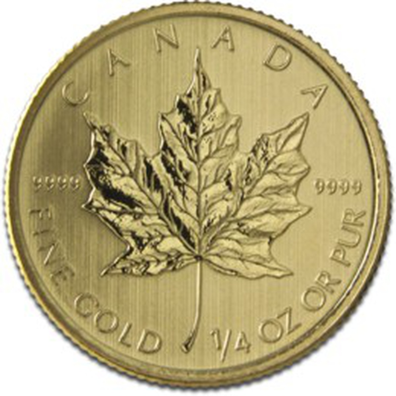 2013 Quarter Ounce Gold Canadian Maple
