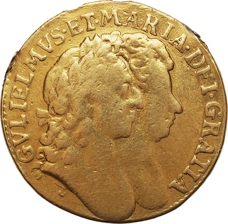 1694 William and Mary Gold Guinea