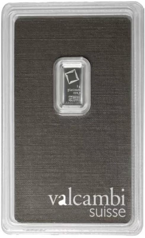 Valcambi 1 Gram Platinum Bar Minted