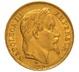 1868 20 French Francs - Napoleon III Laureate Head - BB