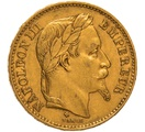 1870 20 French Francs - Napoleon III Laureate Head - BB