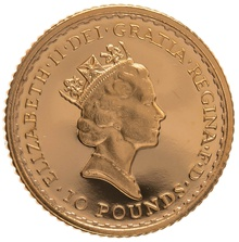 1987 Tenth Ounce Proof Britannia Gold Coin