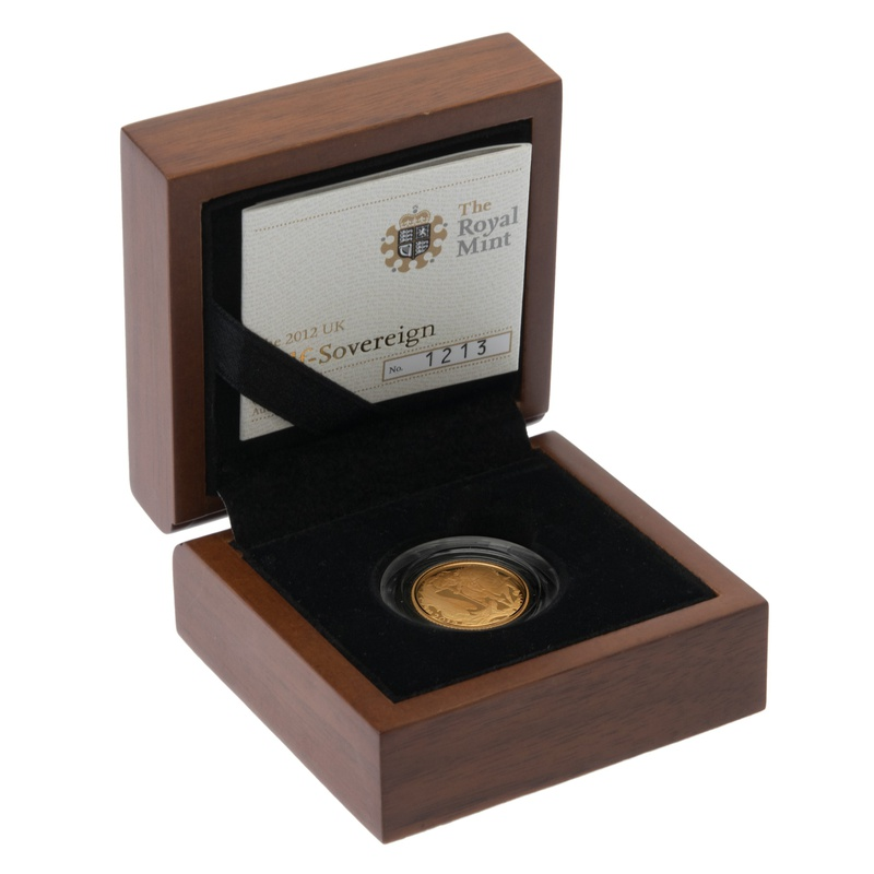 Gold Proof 2012 Half Sovereign Boxed