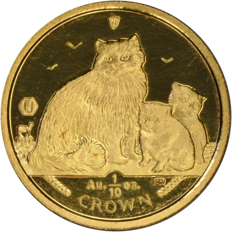 Tenth Ounce Gold Isle of Man Manx Crown Coin