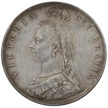 1892 Queen Victoria Silver Halfcrown