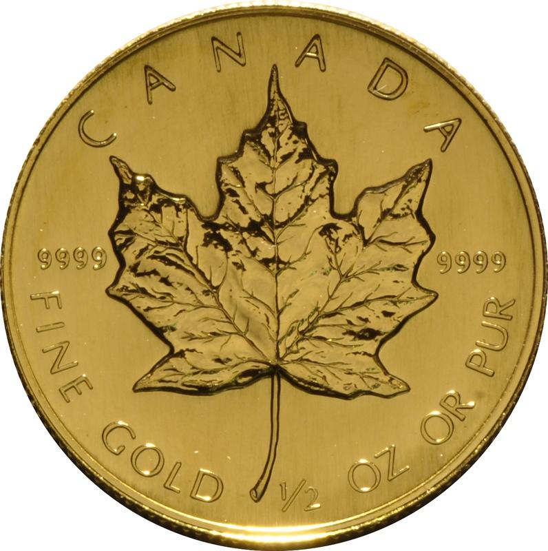 1989 Half Ounce Gold Maple