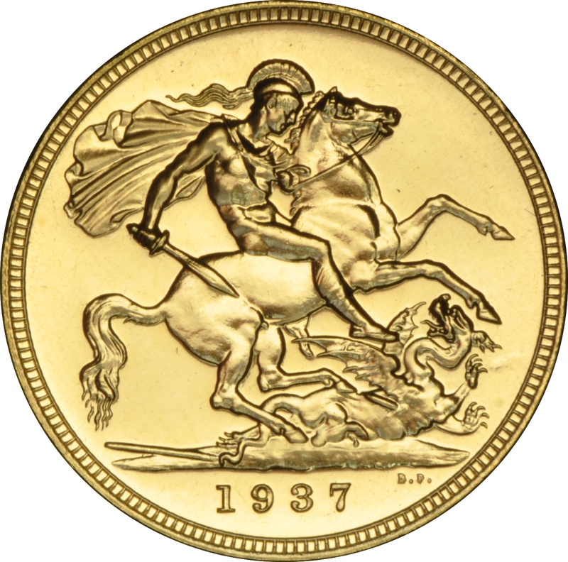 1937 Gold Proof Sovereign George VI