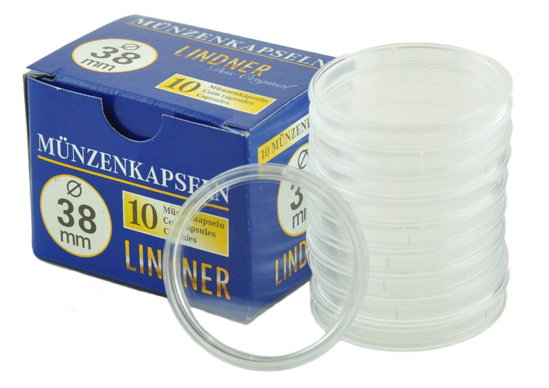 Lindner 38mm 1oz Silver Coin Capsules (10 Box)