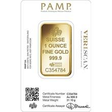 PAMP Rosa 1oz Gold Bar Minted