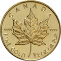 Half Ounce Gold Canadian Maple