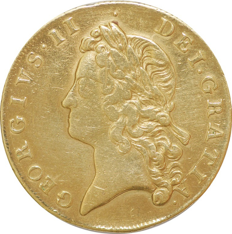 1739 George II Two Guinea Gold Coin - Very Fine