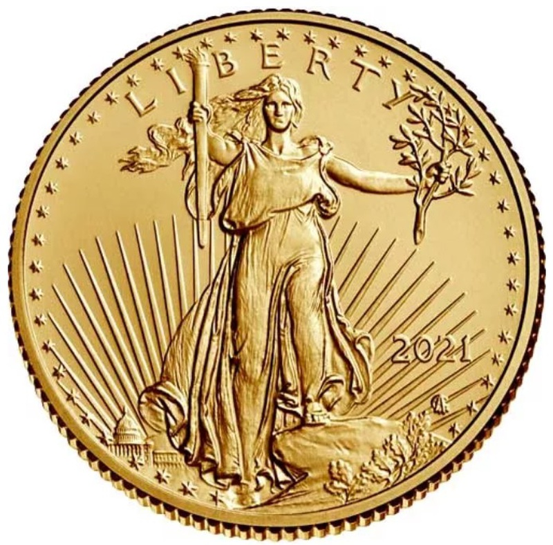 2021 Quarter Ounce American Eagle Gold Coin Type II