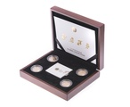 Gold Proof 2013 United Kingdom Floral Collection £1 one pound coin set Boxed