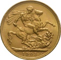 1903 Gold Sovereign - King Edward VII - M