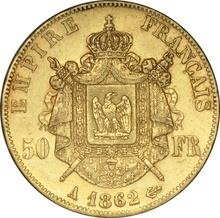 50 French Francs Napoleon III Laureate Head