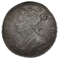 1707 Queen Anne Silver Halfcrown SEXTO - Fine