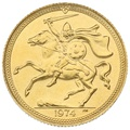 1974 Gold Sovereign - Elizabeth II Decimal Portrait - Isle of Man