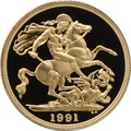 1991 £2 Two Pound Proof Gold Coin (Double Sovereign)