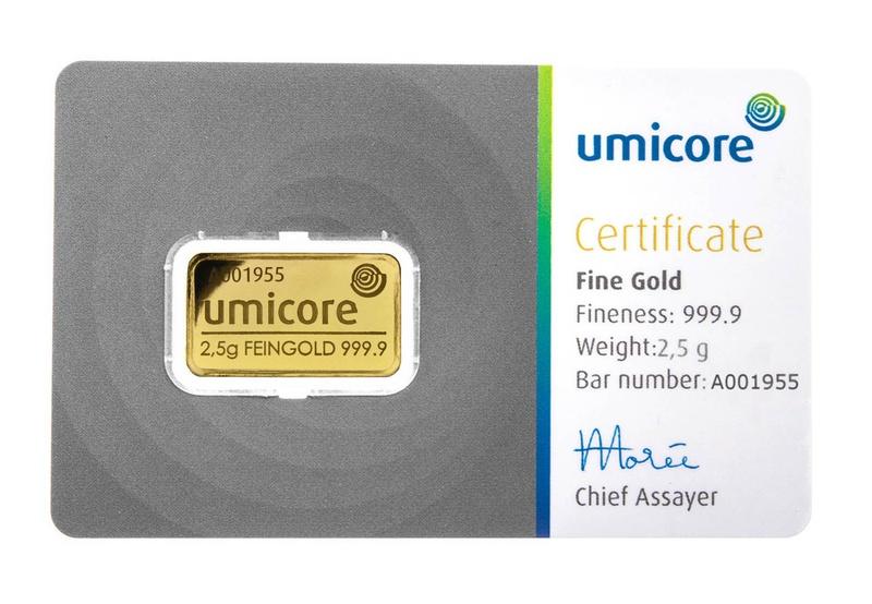 2.5 Gram Gold Bar Best Value (Brand New)
