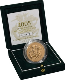 2005 - Gold £5 Brilliant Uncirculated Coin Boxed