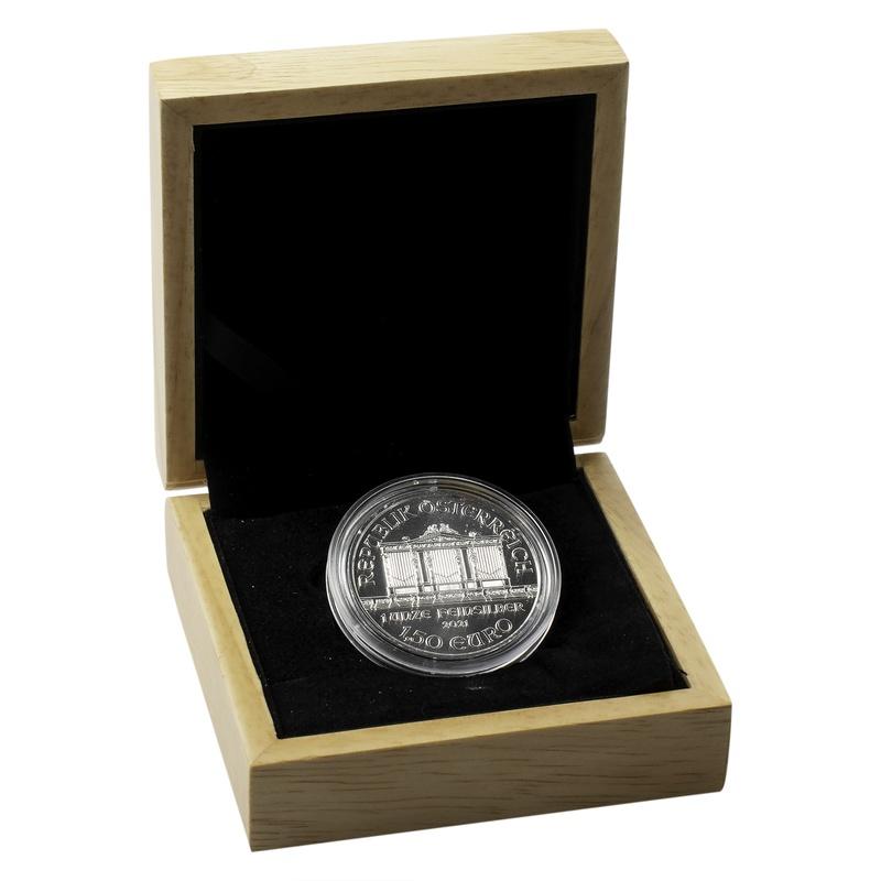 2021 1oz Austrian Philharmonic Silver Coin Gift Boxed