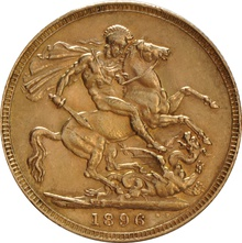 1896 Gold Sovereign - Victoria Old Head - London