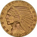 American Gold Half Eagle $5 Indian Head
