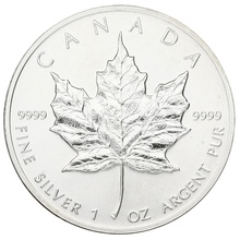1990 1oz Canadian Maple Silver Coin