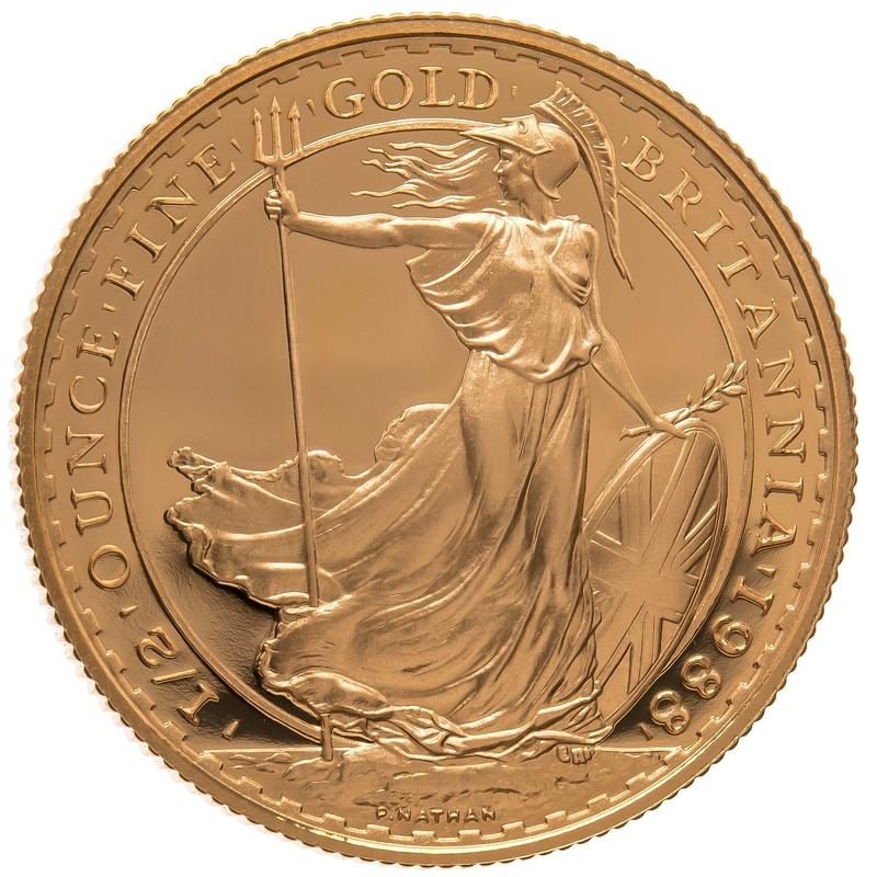 1988 Half Ounce Proof Britannia Gold Coin