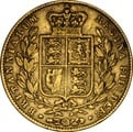 1847 Gold Sovereign - Victoria Young Head Shield Back - London