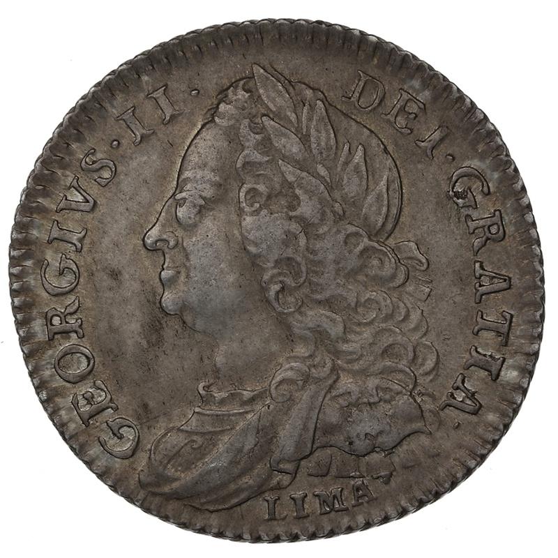 "1746 George II Silver Sixpence ""LIMA"""