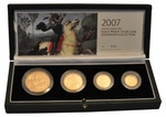 2007 Gold Proof Sovereign Four Coin Set Boxed