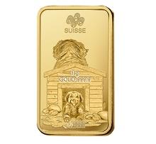 PAMP Gold Multigram+8 Bar Minted Dog