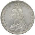1887 Queen Victoria Silver Double Florin - Uncirculated