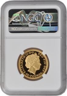 2008 Half Ounce Proof Britannia Gold Coin NGC PF69