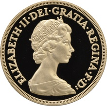 1980 - Gold £5 Proof Coin (Quintuple Sovereign)